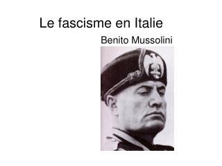 Le fascisme en Italie