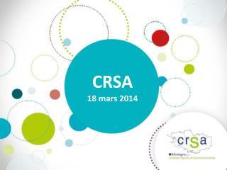 CRSA  18 mars 2014