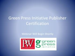 Green Press Initiative Publisher Certification