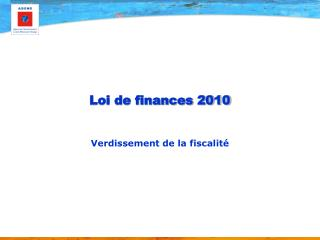 Loi de finances 2010