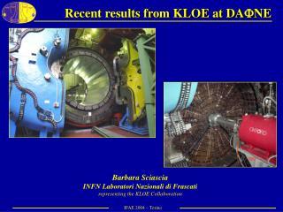 Recent results from KLOE at DA  NE