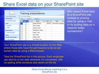 Share Excel data on your SharePoint site