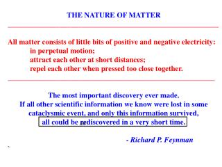 THE NATURE OF MATTER _________________________________________________________