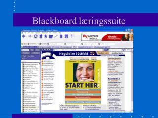 Blackboard læringssuite