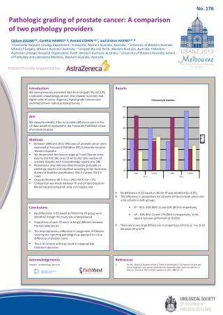 Pathologic grading of prostate cancer: A comparison of two pathology providers