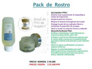 Pack  de  Rostro