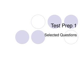 Test Prep 1