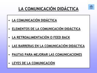 LA COMUNICACIÓN DIDÁCTICA