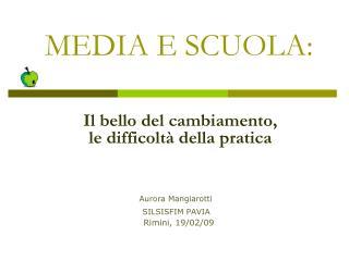 MEDIA E SCUOLA: