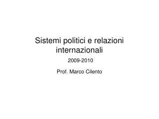 Sistemi politici e relazioni internazionali 2009-2010