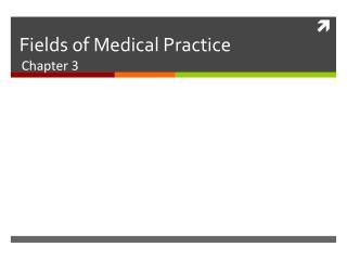 Fields of Medical Practice