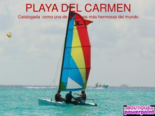 PLAYA DEL CARMEN Catalogada  como una de las playas más hermosas del mundo
