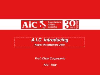 A.I.C.  introducing Napoli 16 settembre 2010