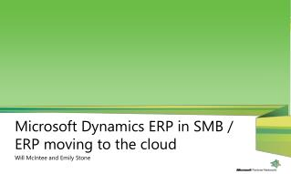 Microsoft Dynamics  ERP in  SMB / ERP moving to the cloud