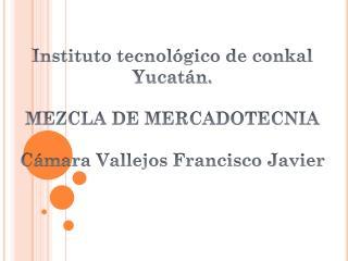 Instituto tecnol�gico de conkal Yucat�n. MEZCLA DE MERCADOTECNIA C�mara Vallejos Francisco Javier