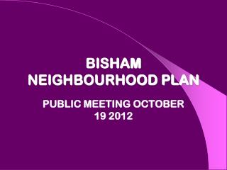 BISHAM NEIGHBOURHOOD PLAN