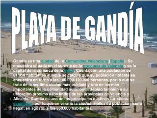 PLAYA DE GANDÍA