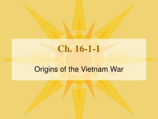 Ch. 16-1-1