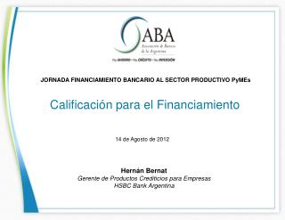 Calificaci�n para el Financiamiento