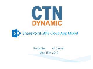 2013 Cloud App Model