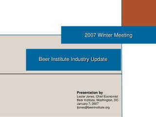 2007 Winter Meeting