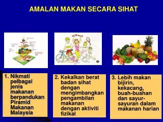 1. Nikmati pelbagai jenis makanan berpandukan Piramid Makanan Malaysia