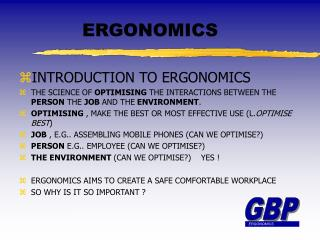 Introduction to ergonomics - Ray Browne