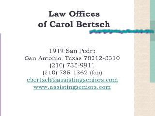 Law Offices  of Carol Bertsch