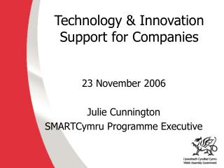 Technology & Innovation  Support for Companies