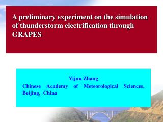 A preliminary experiment on the simulation of thunderstorm electrification through GRAPES