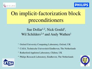 On implicit-factorization block preconditioners