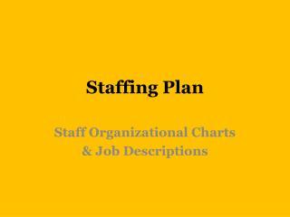 Staffing Plan