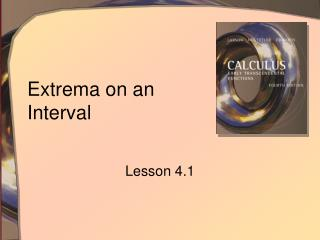Extrema on an Interval