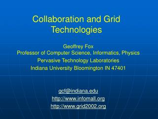 Collaboration and Grid Technologies