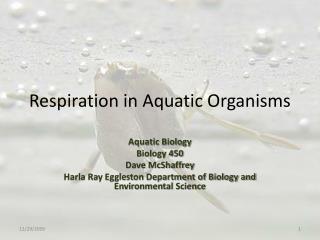 Respiration in Aquatic Organisms