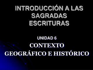 INTRODUCCI N A LAS SAGRADAS ESCRITURAS