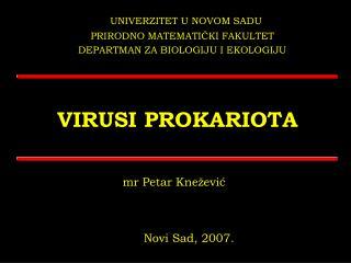 VIRUSI PROKARIOTA