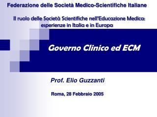 Governo Clinico ed ECM