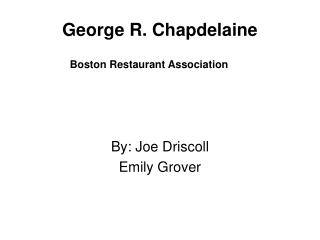 George R. Chapdelaine