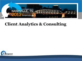 Client Analytics & Consulting