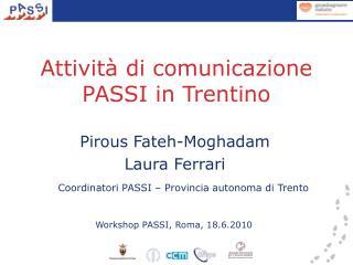 Attività di comunicazione PASSI in Trentino