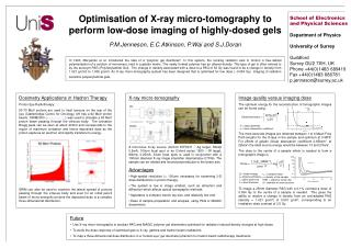 Optimisation of X-ray micro-tomography to perform low-dose imaging of highly-dosed gels