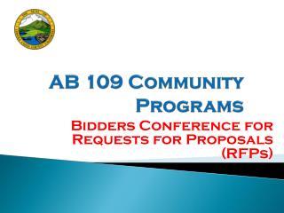 AB 109 Community Programs