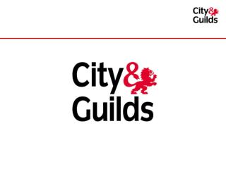 City & Guilds – 12 8  years young!