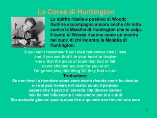 La C�rea di Huntington