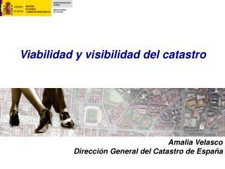 Viabilidad y visibilidad del catastro