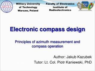 Electronic compass design Principles of azimuth measurement and compass operation