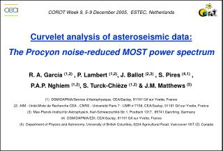 Curvelet analysis of asteroseismic data: The Procyon noise-reduced MOST power spectrum