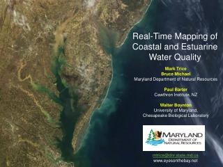 Real-Time Mapping of Coastal and Estuarine Water Quality