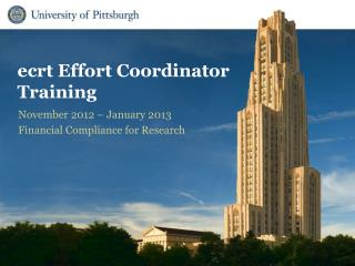 ecrt Effort Coordinator Training
